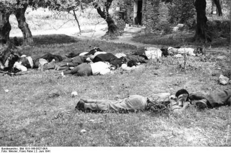Στο Κοντομαρί Χανίων διαπράχτηκε η πρώτη μαζική εκτέλεση αμάχων στην κατεχόμενη Ευρώπη. Bundes3ded